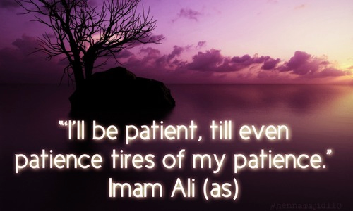 Imam Ali (A.S.) hadith on Patience