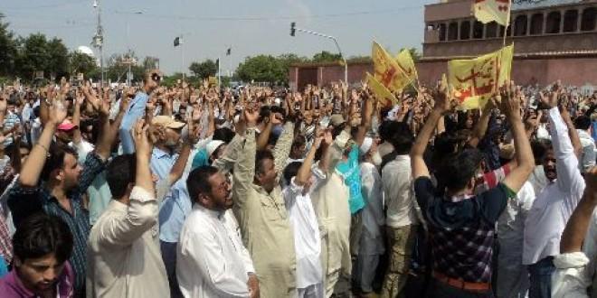 شیعہ علماء کونسل کراچی ڈویژن کی جانب سے نمائش چورنگی پر دھرنے اور کل بروز پیر کو پورے کراچی میں ہڑتال کا اعلان