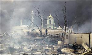 میانمار فرقہ وارانہ فسادات ،20افراد ہلاک،5مساجد شہید