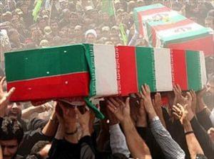 روضہ حضرت زینب (س) کی حفاظت کرتے ہوئے دو ایرانی شہید/ دامغان میں تشییع جنازہ