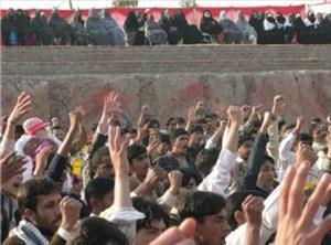 Terrorist attack on holy shrine of Hazrat Zainab (AS) sparks off stiff protest across Pakistan