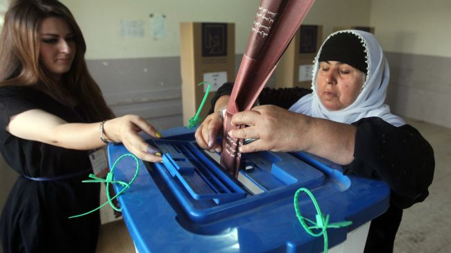 Voters cast ballots in Kurdistan parliamentary polls