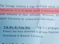 Al-Qaeda's presence in Karachi University unearthed