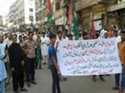 Shiites stage rallies to protest against the targeted murders and Thar crisis