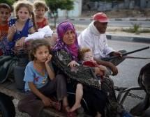 Israeli attacks force Gazan families to flee homes