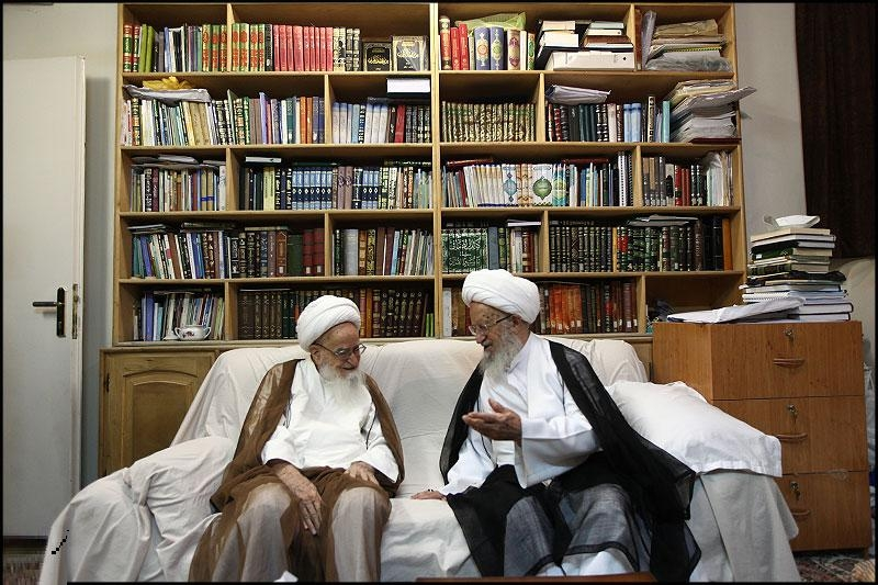 حضرات آیات مکارم شیرازی و صافی گلپائگانی کی مشہد میں ملاقات