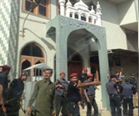 کراچی کی مسجد بلال (ضرار) سے شہید علامہ علی اکبر کے جلوس جنازہ پر حملہ کیا گیا